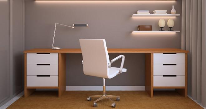 Éclairage d'un bureau