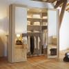 Mise en lumière et éclairage décoratif d'une chambre