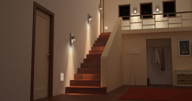 Éclairage d'un escalier