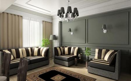Déco moderne : accorder la couleur du lampadaire à celle des murs